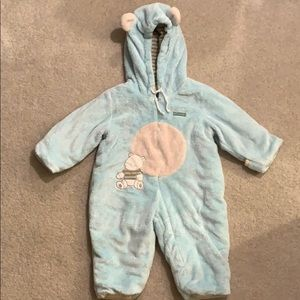 Absorba teddy bear plush winter suit